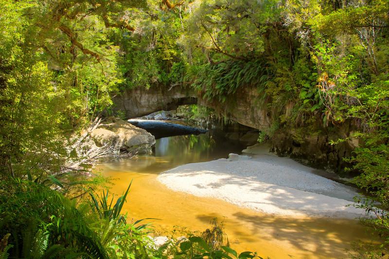 A hidden arch deep in the Kahurangi National Park