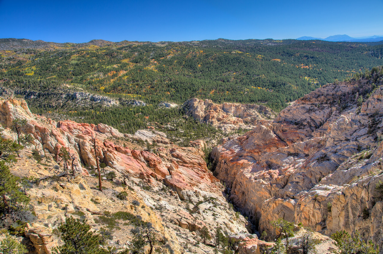 A view of the valley overlooking Box Death Hollow Wilderness area north of Escalante.