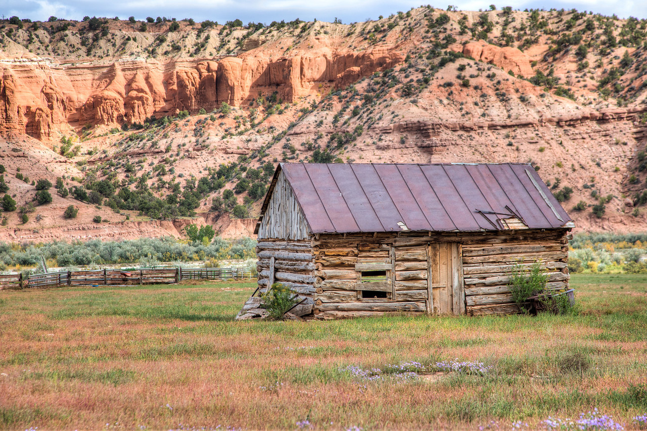 An old homestead now abandoned.