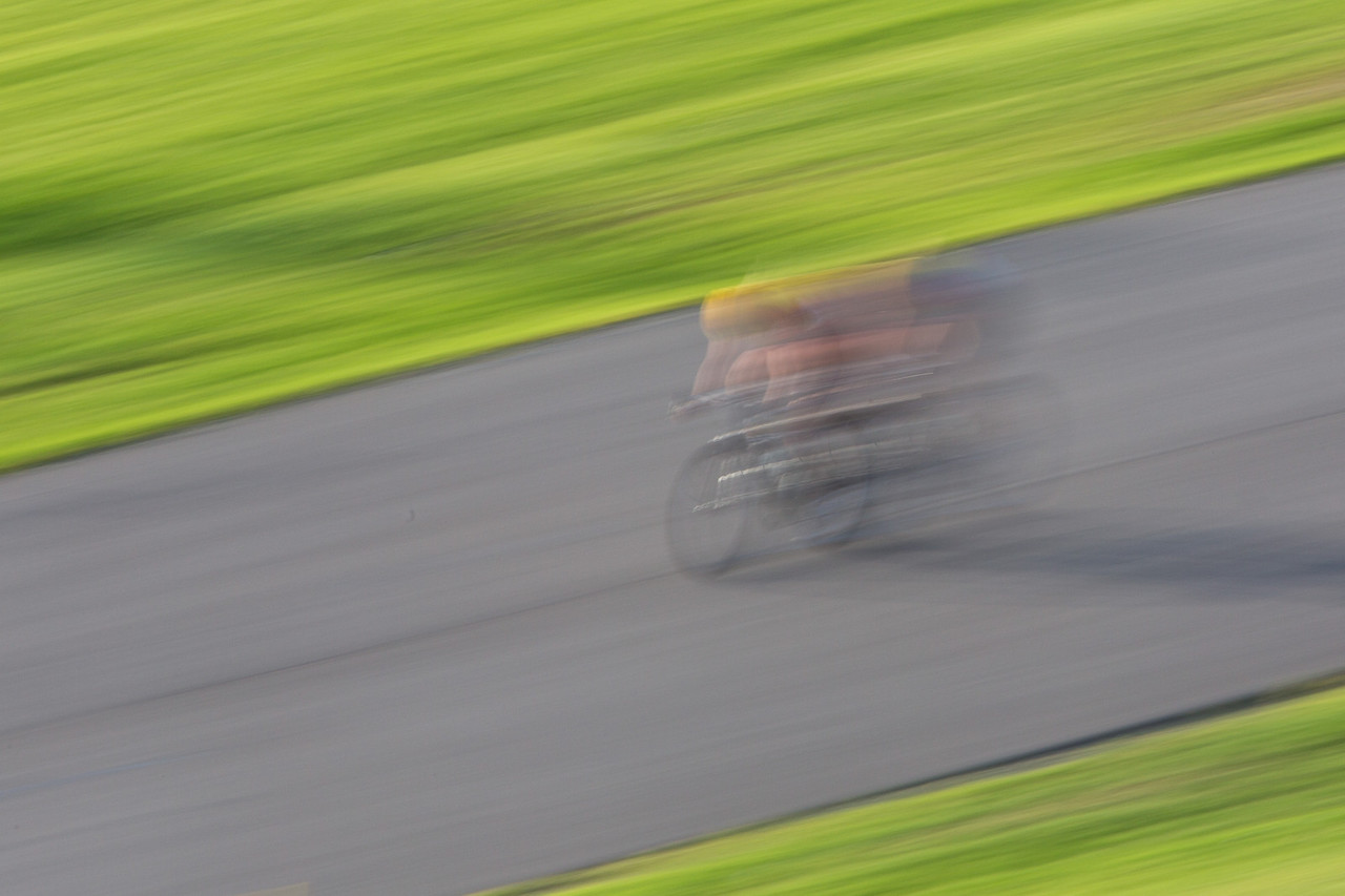 Some raced so fast they could only be seen as a blur