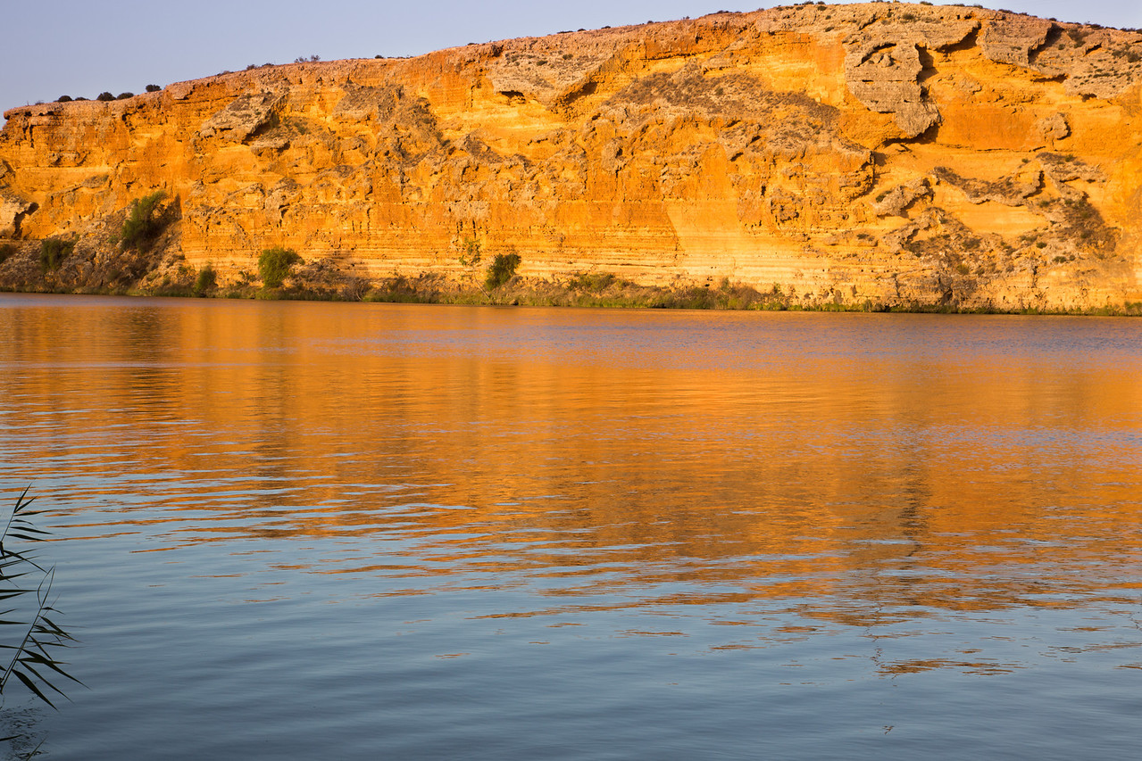 Bluffs at sunset along the River Murray
