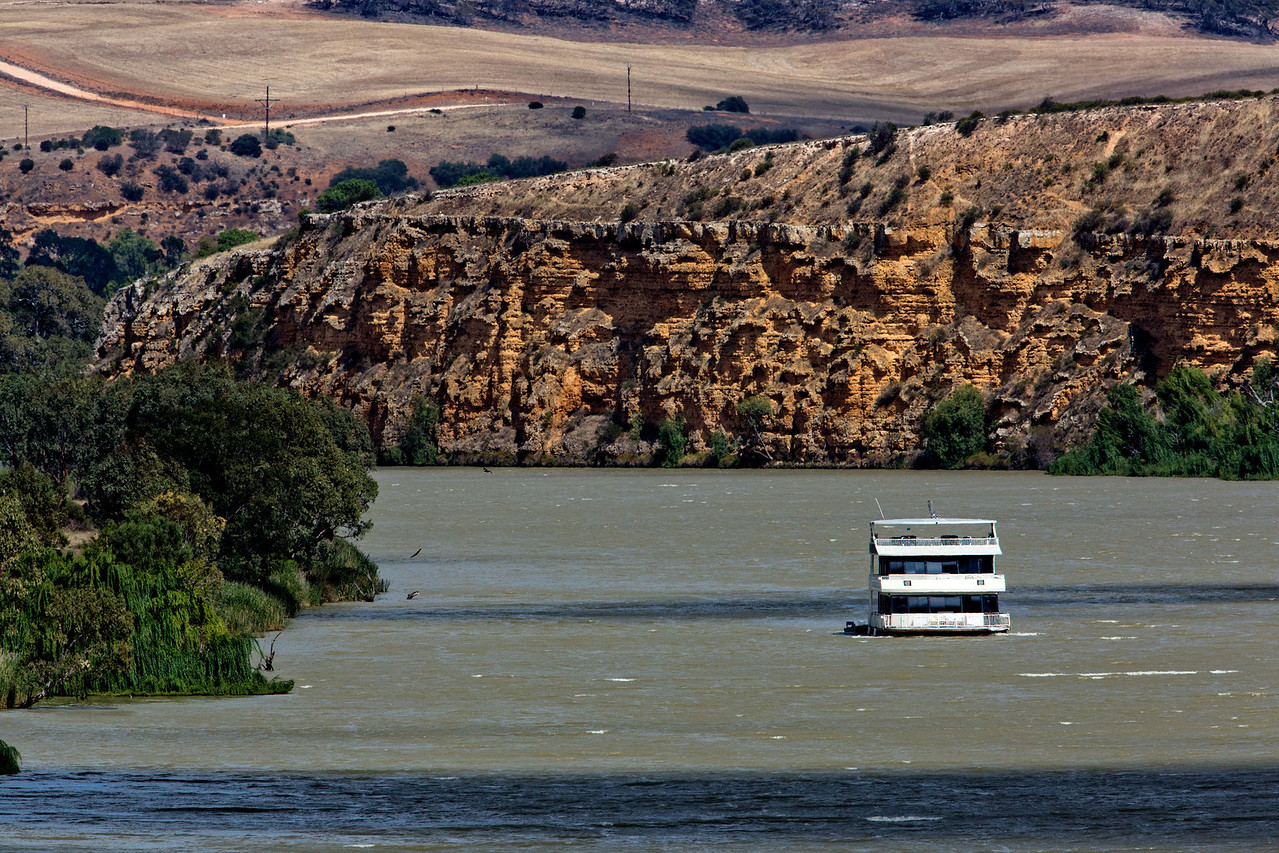 A view of the River Murray near Bowhill, South Australia