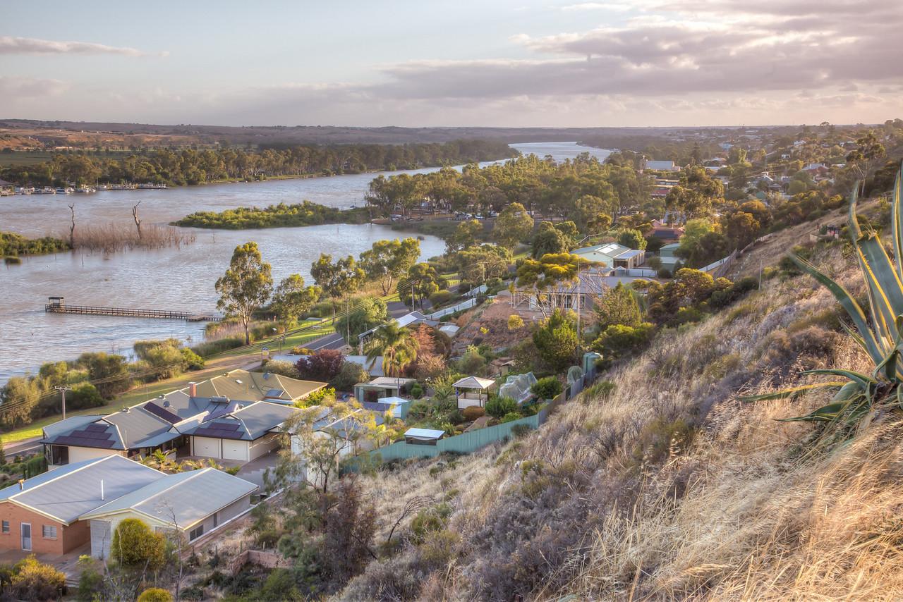 Mannum, Australia nestled along the River Murray