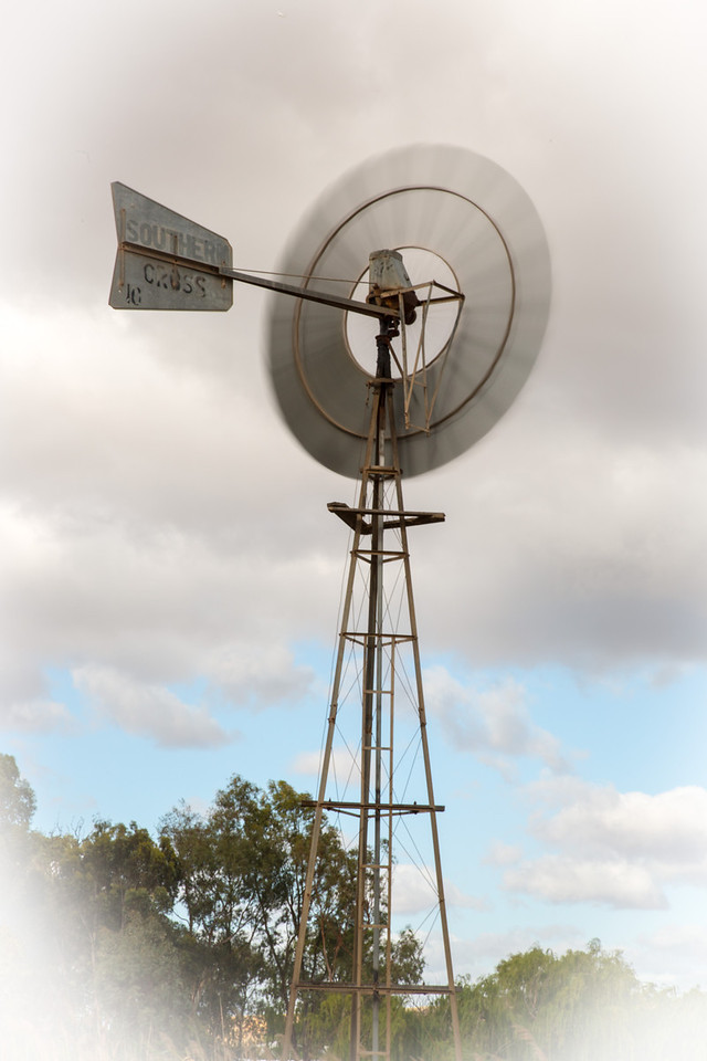 Windmills are common in the area