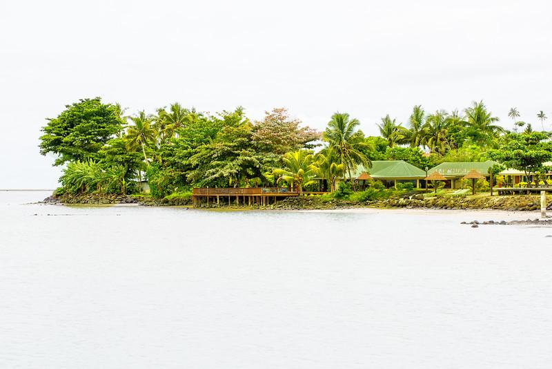 Small atoll in Samoa