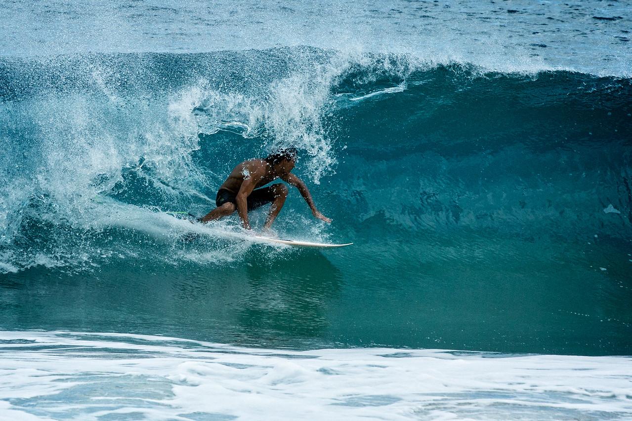 Surfer at Bali Hai Beach
