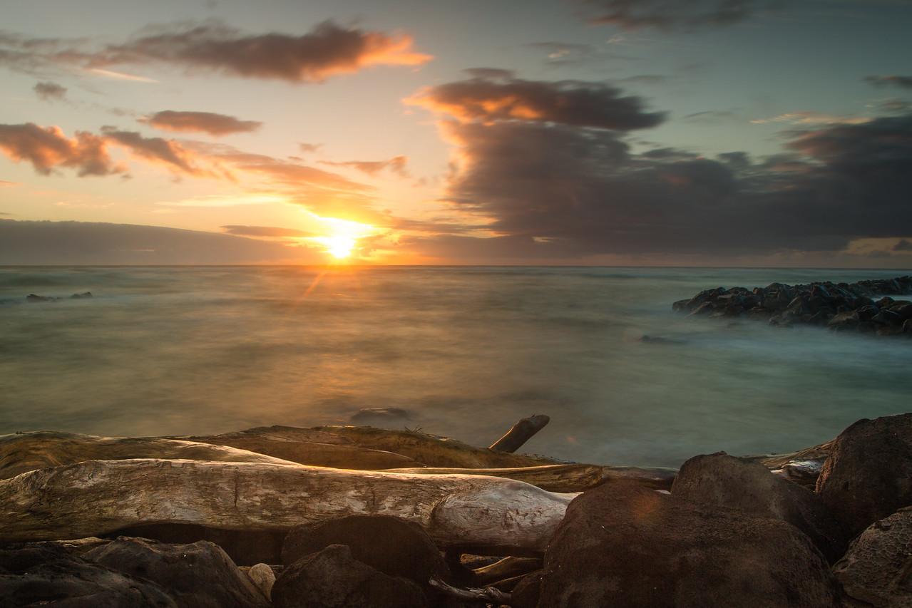 Sunrise at Lydgate Beach Park