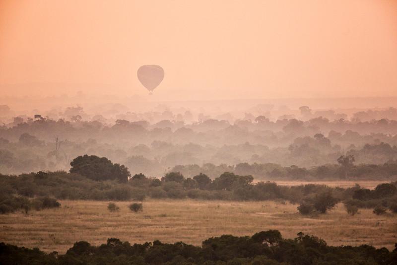 Just before sunrise in the Masai Mara.
