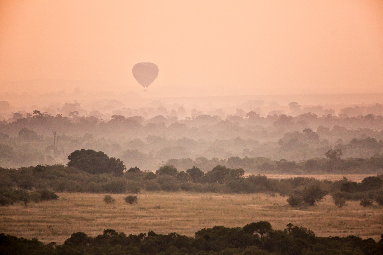 Just before sunrise in the Masai Mara.