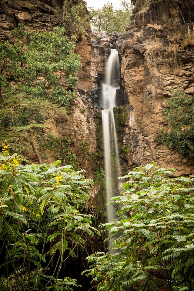 A small waterfall at Lake Nakuru.