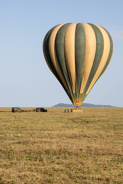 The landing of our sister balloon.