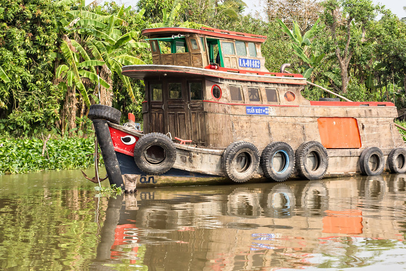 We enjoyed seeing the variety of boats used for all types of purposes on the Mekong