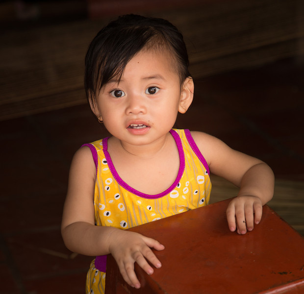 Another charming girl on Binh Thanh Island