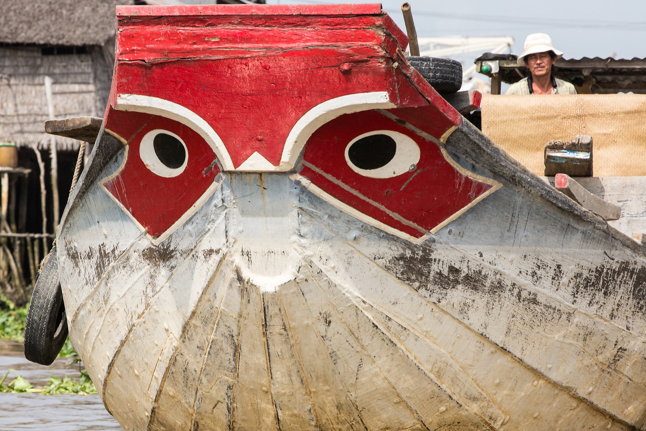 "The typical ""eyes"" of safekeeping on the front of many boats"