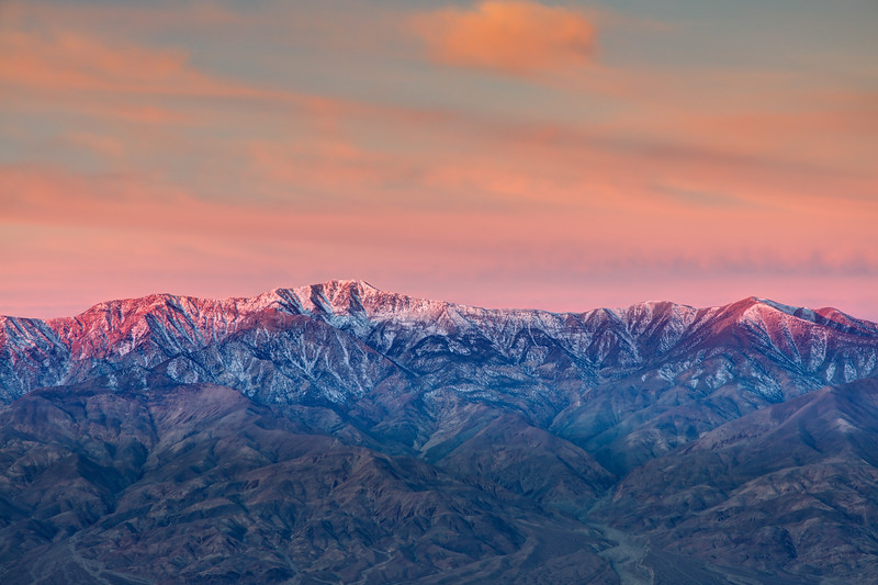 Alpen glow on Panamint Mountains