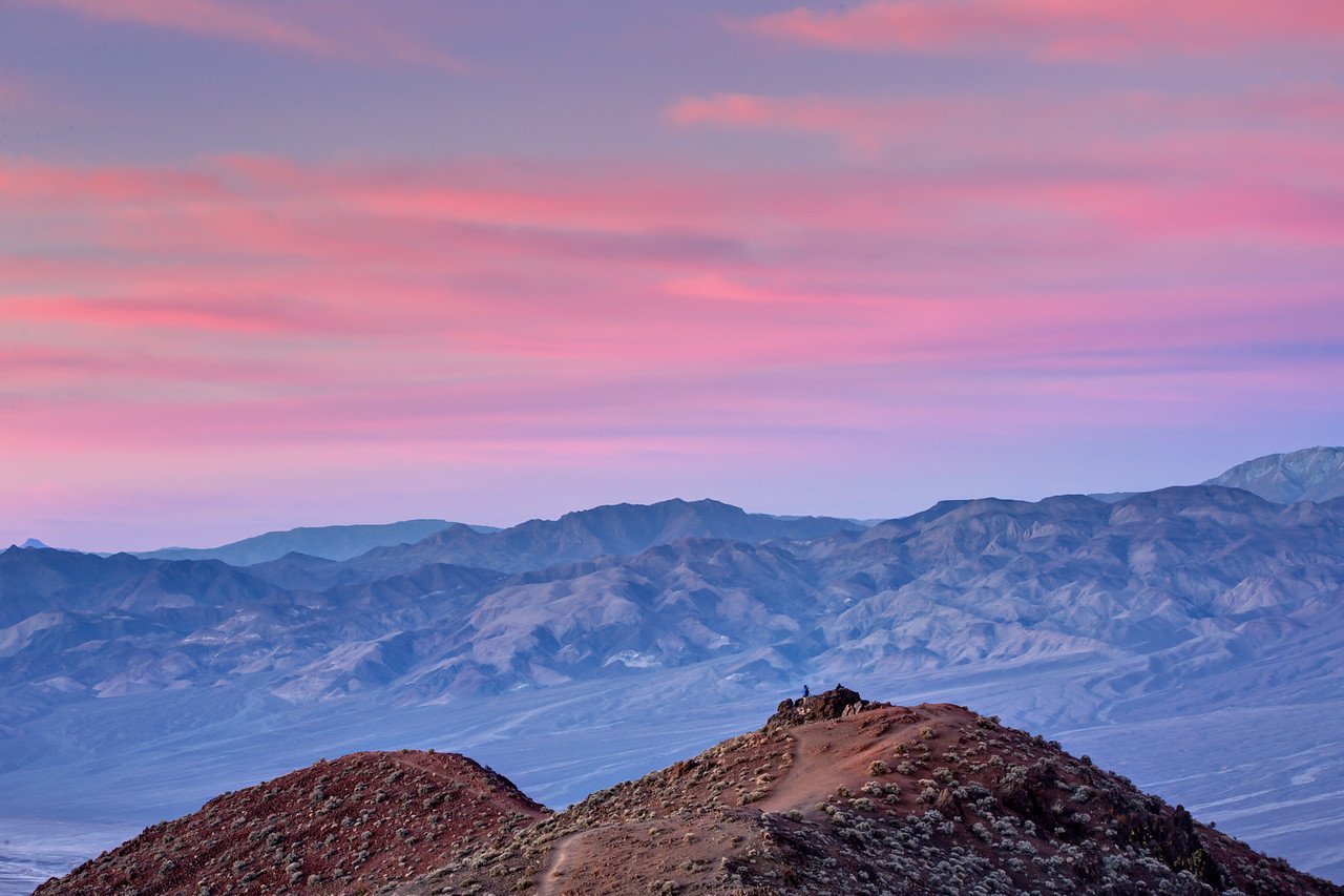 Alpen glow on Panamint Mountains from Dante's View