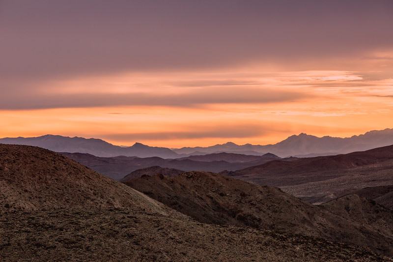 Sunrise over the Greenwater Range