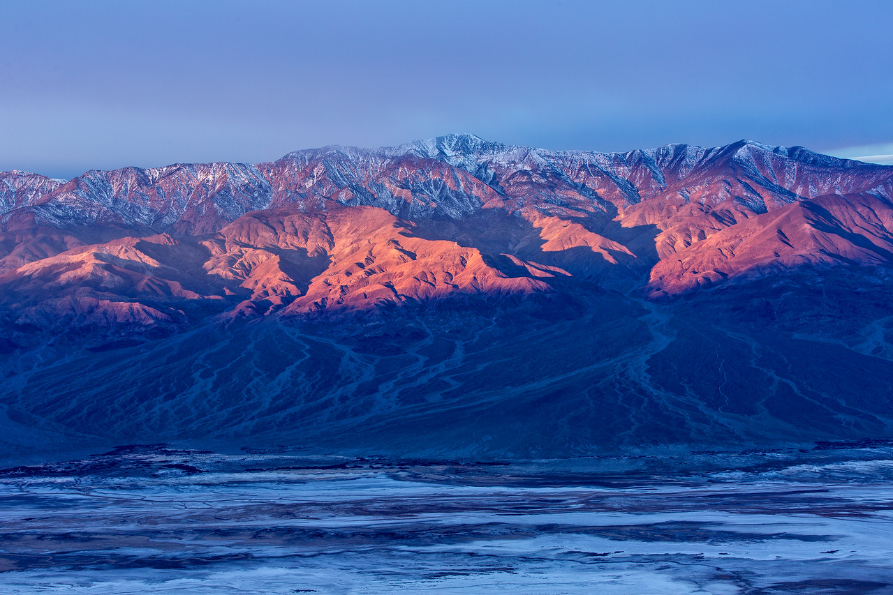 Early light on Panamint Mountains