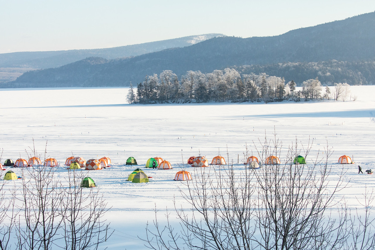 Tents for ice fishing
