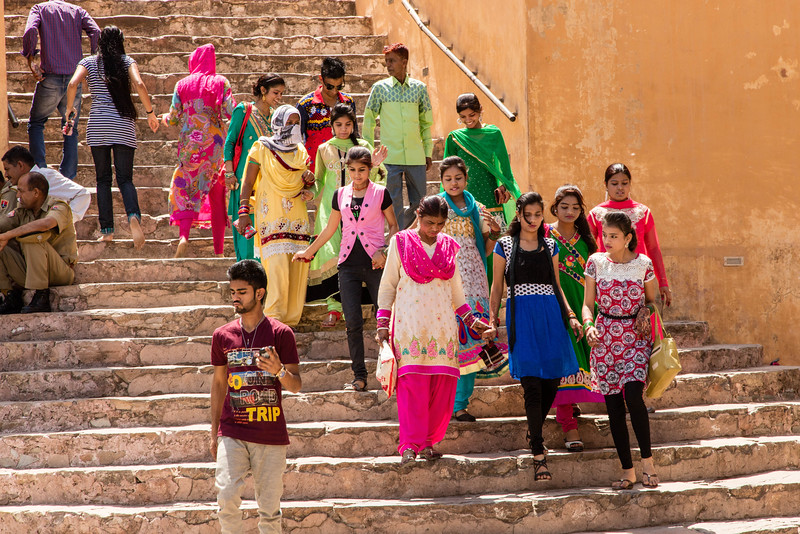 More colorful dresses in Jaipur.