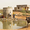 Water is a critical resource. Wherever there are wells you'll see people and cows congregating.