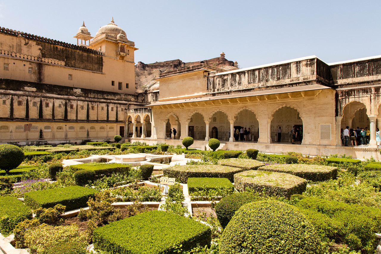 Courtyard of Amer Fort.