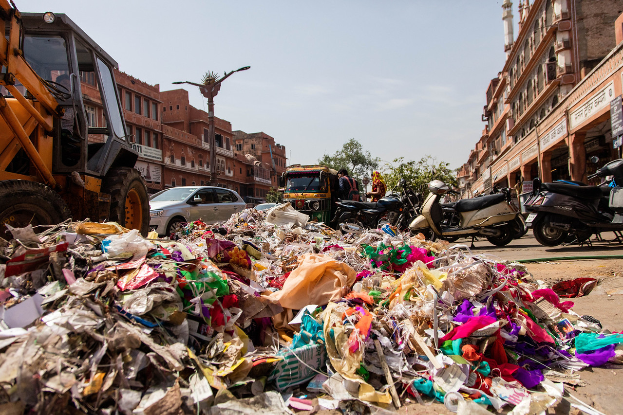 Trash is a problem on the streets of Indian cities.