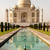 Reflections of the Taj Mahal.