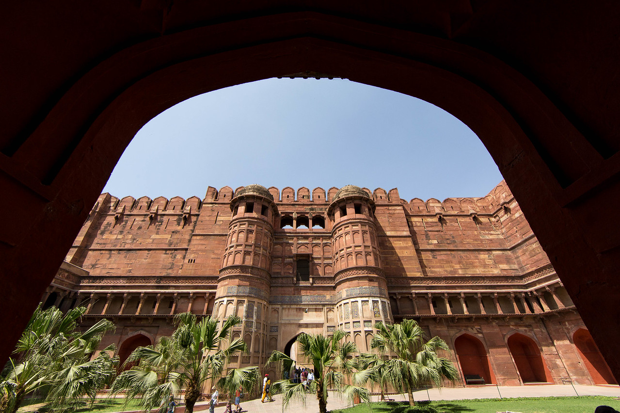 Entrance to the Agra Fort in Agra.