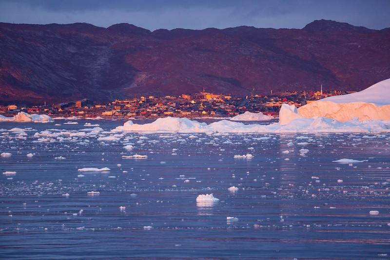 Approaching Ilulissat, Greenland.