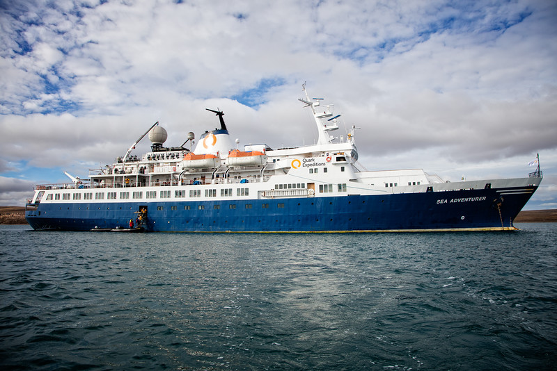 Our ship, the Sea Adventurer