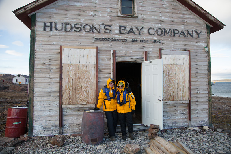 Andrew Scothern and Julie at the abandoned Fort Ross's Hudson's Bay Company store.