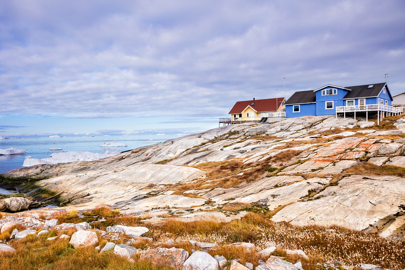 A from foundation for these houses in Ilulissat.