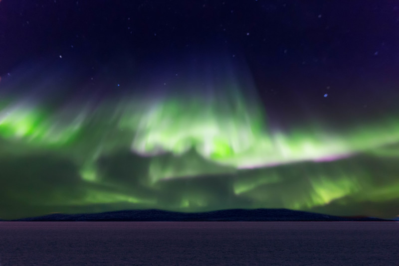 After chasing the aurora borealis for several years without luck, we were surprised to see them so magnificently on this trip.
