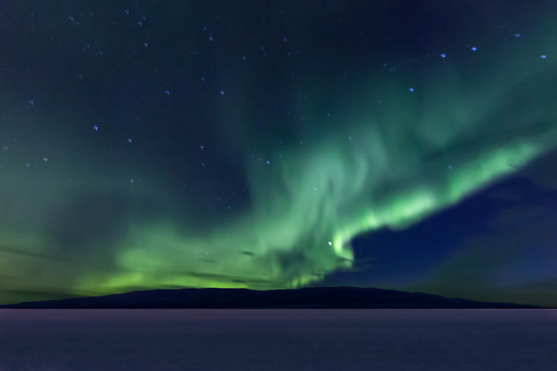It was a challenge to photograph the aurora borealis from a ship.