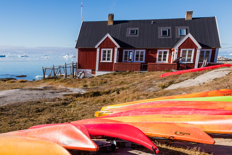 Kayaks by the sea