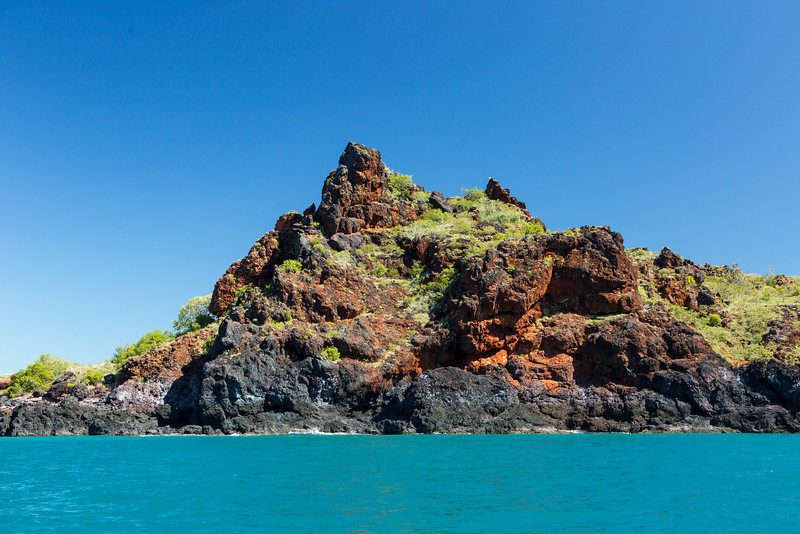 This small island is an exmple of iron-rich land in the Yampi Sound region.