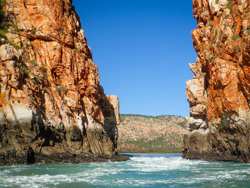 Called Horizontal Falls, this unique opening in the walls of the canyon allowing the tides to rush in and out of the embayment behind.