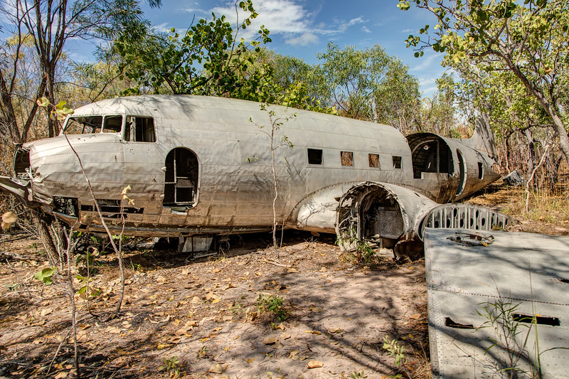 The plane was flying to Broome, Australia in 1942 but overshot the airport by 400 miles and crased here. No one was seriously injured.