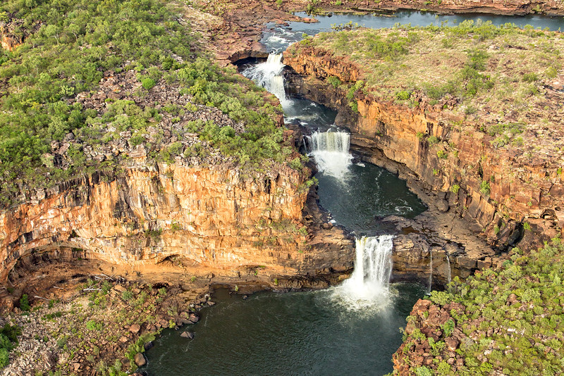 The three major sections of Mitchell Falls.