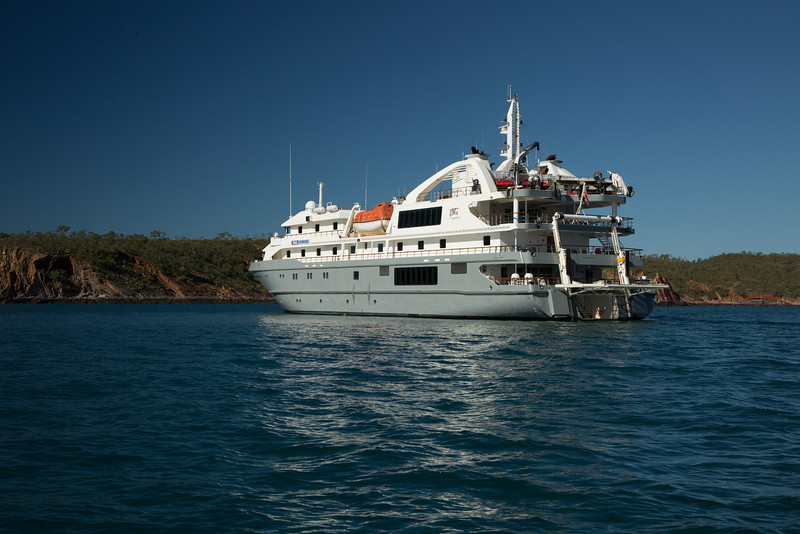 The Coral Discoverer, our home for 12 days, carrying 72 passengers.