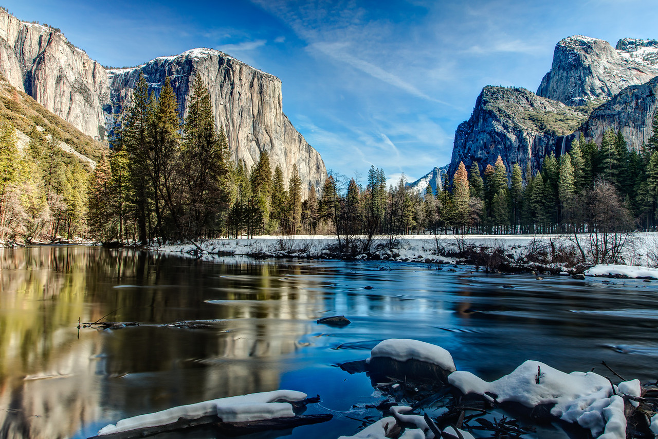 Silky water on the Merced River