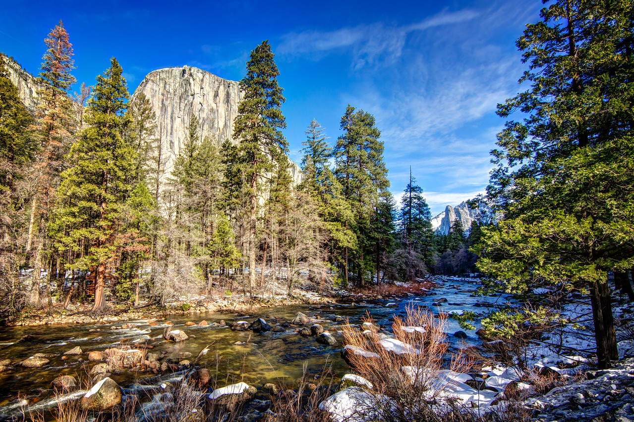 El Capitan viewed from the Merced River