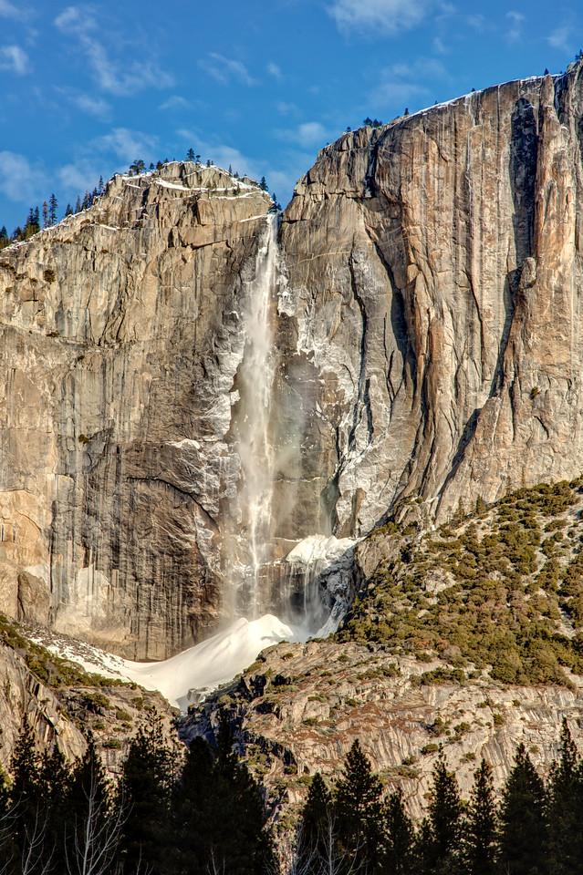 Closer view of Yosemite Falls
