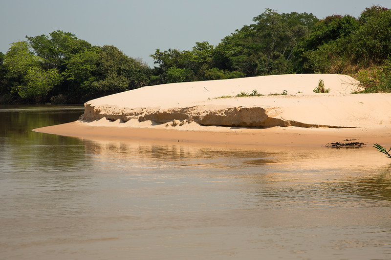 Parts of the river banks were sandy like this one.