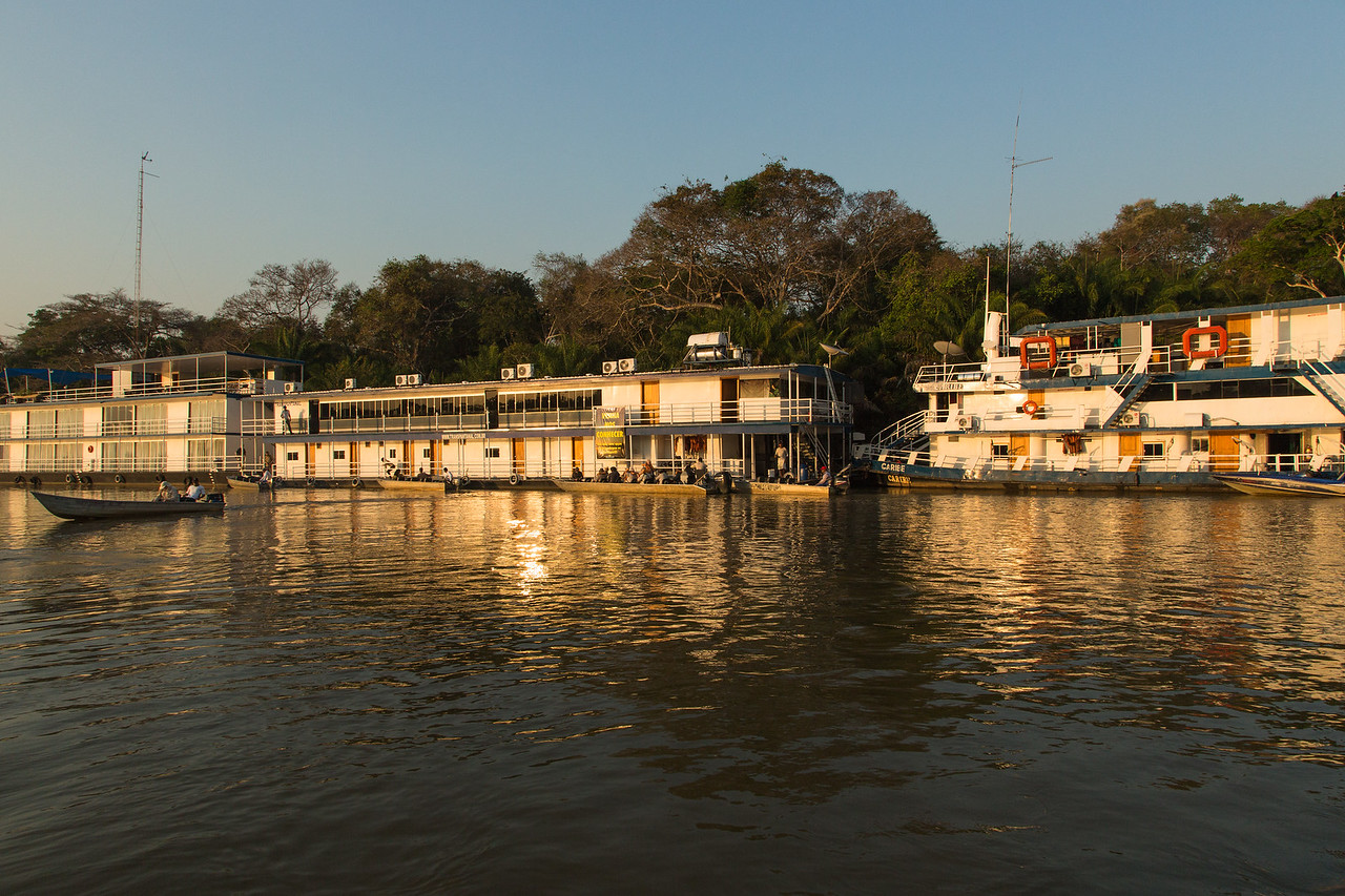 Our hotel, called the Jaguar Flotel, on the Piquiri River in the southern part of the Brazilian Pantanal.