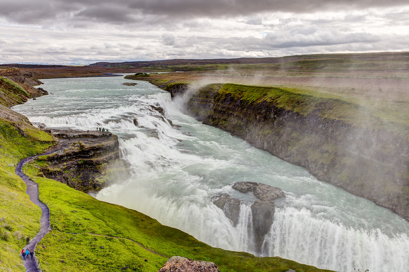 Gullfoss, one of the spectacular falls of Iceland