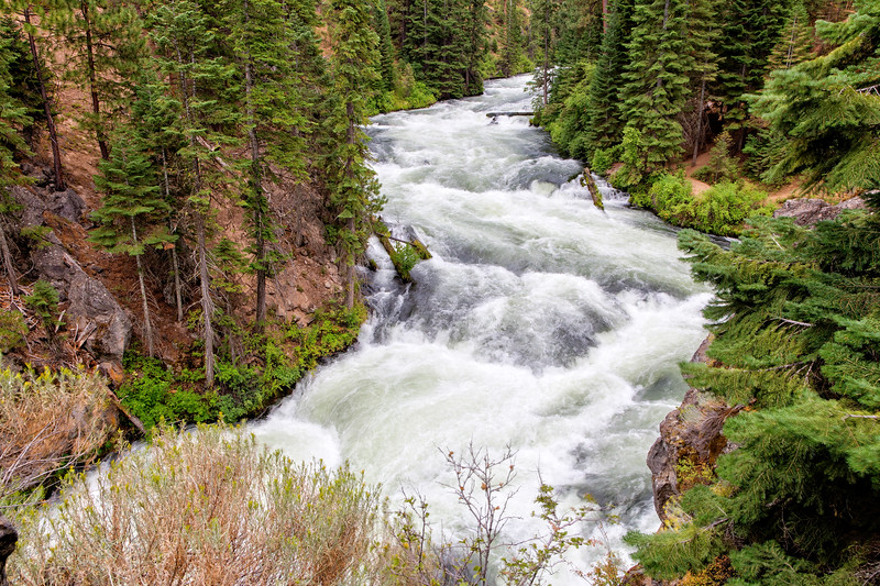 This is Benham Falls on the Deschutes River, located just outside of Bend