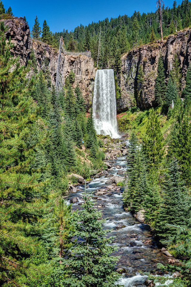 Oregon abounds with waterfalls as you can see from these photos. This fall is called Tumalo Falls and is about 30 minutes from Bend