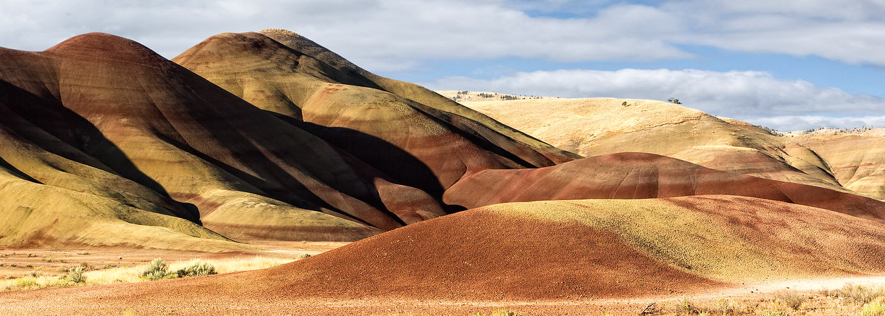 It would have been best to photograph the Painted Hills late in the afternoon, but we were here in the early morning.